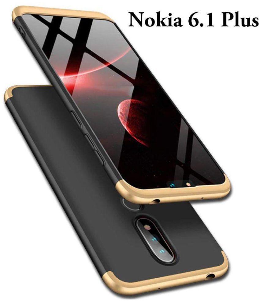 size 40 a0ffe 2e5b6 Nokia 6.1 Plus Shock Proof Case JMA - Golden Original Gkk 360° Protection  Slim Case
