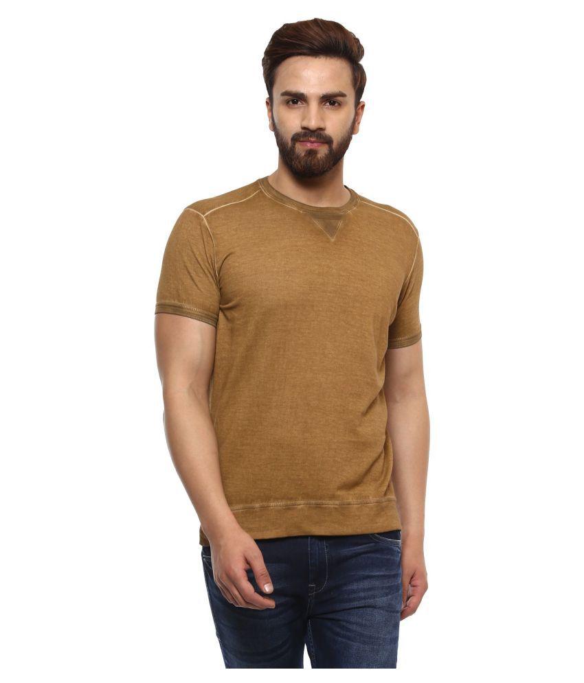 Mufti Khaki Half Sleeve T-Shirt