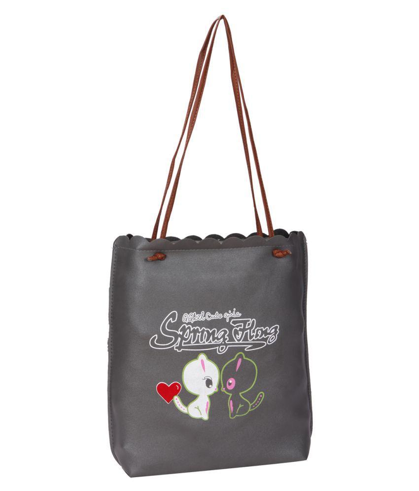 Bagkok Gray P.U. Tote Bag