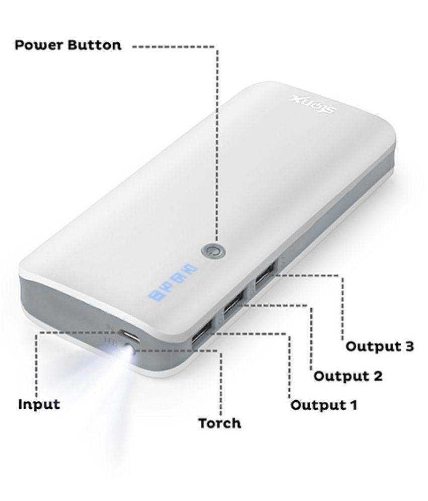 STONX P-31 10000 -mAh Li-Ion Power Bank White & Grey