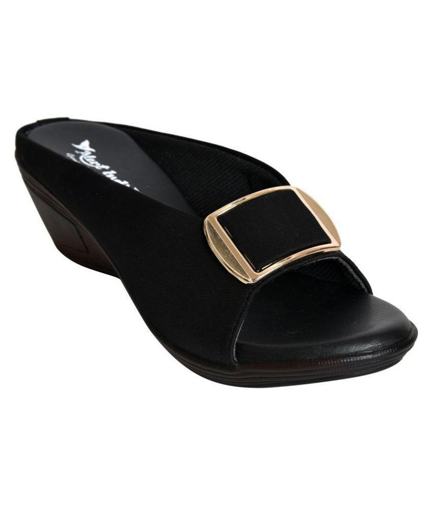 a30eea52443 Alert India Black Wedges Heels