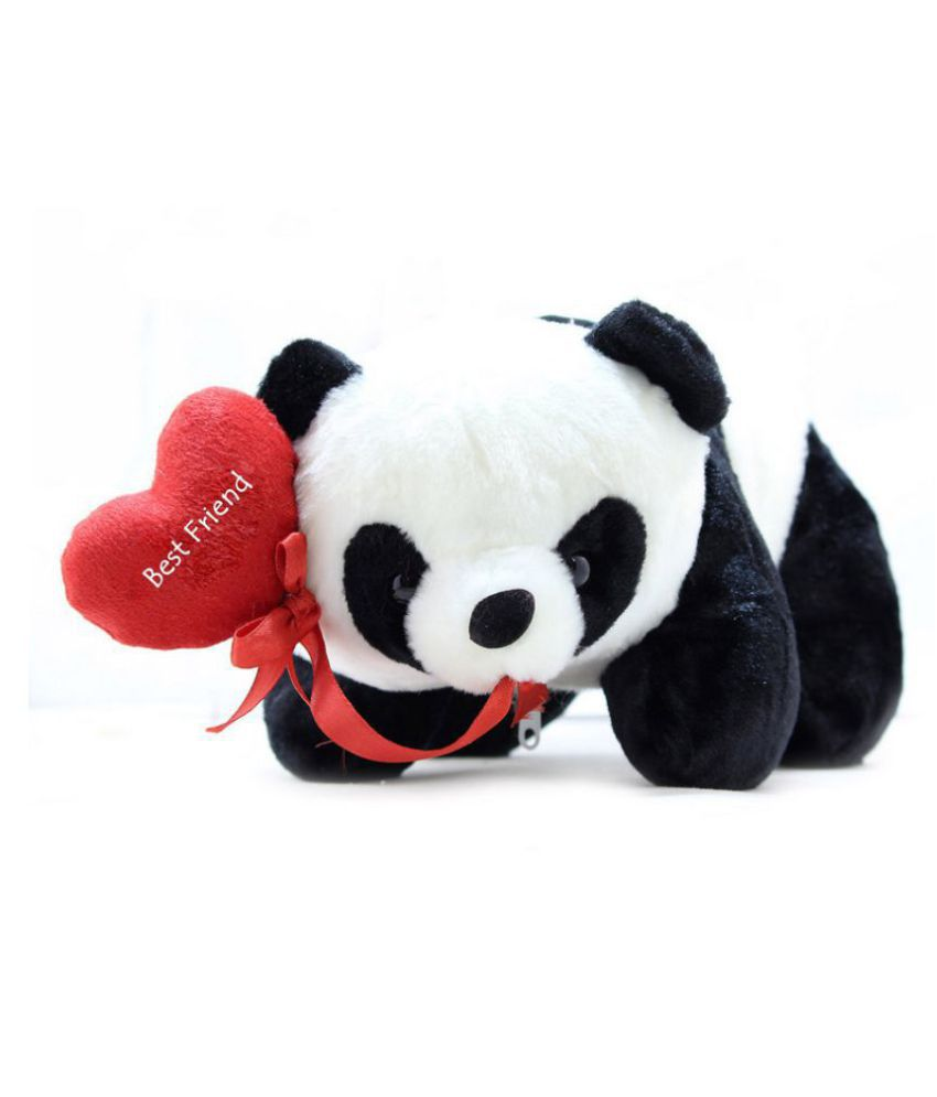 Tickles Panda with Best Friend Heart Soft Stuffed For Friendship Day Special Gift 26 cm
