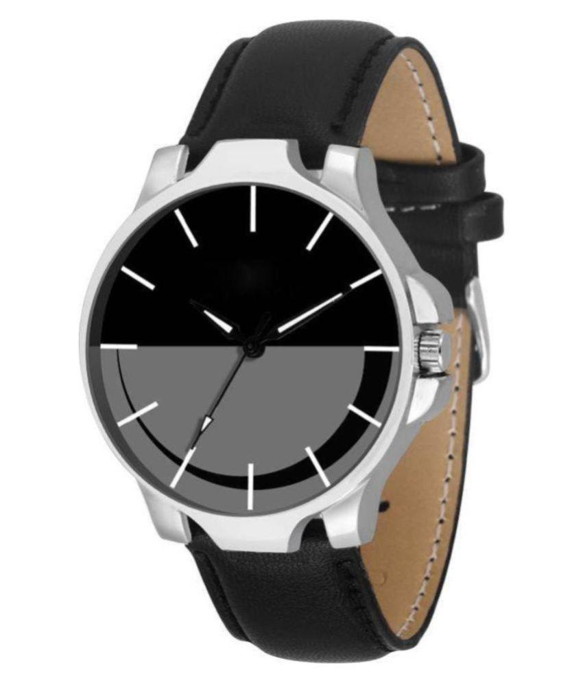 3 Kings New Designer Moon Series Black Leather Analog Men S Watch