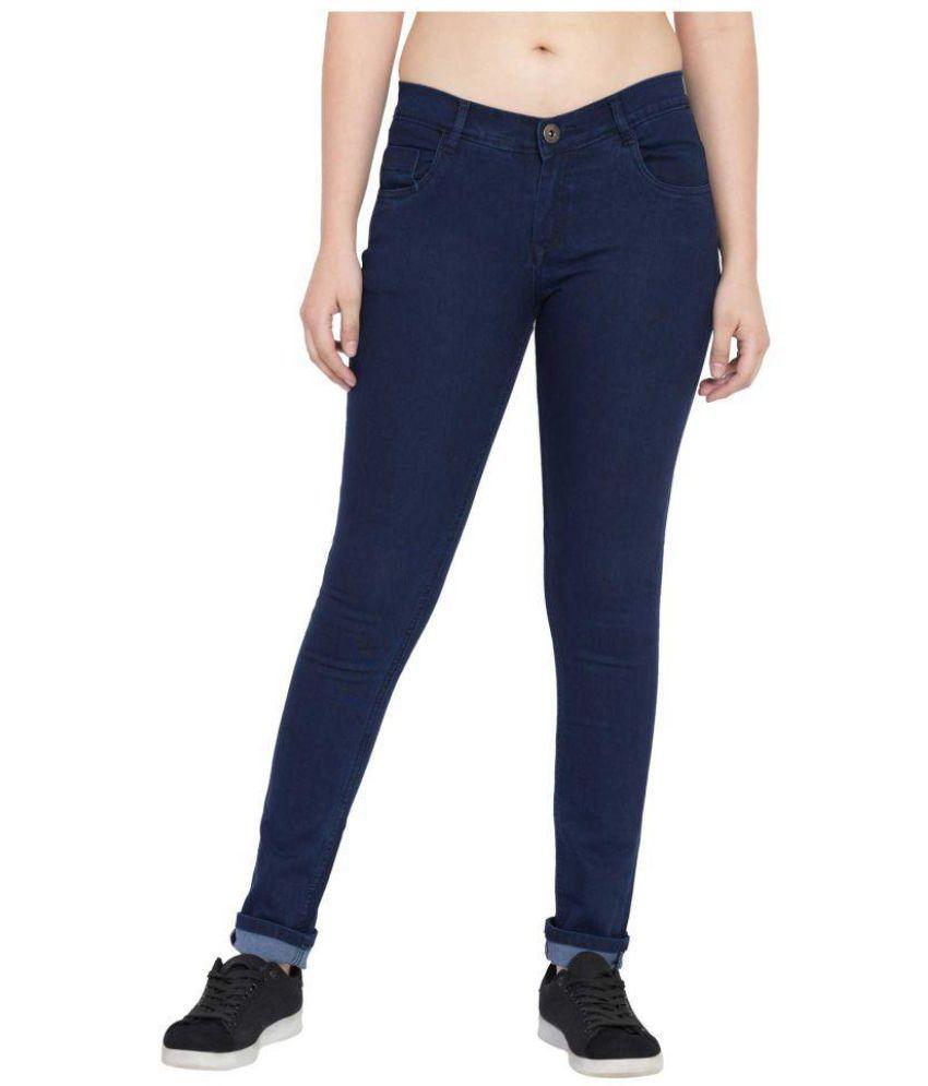 American-Elm Cotton Lycra Jeans - Navy
