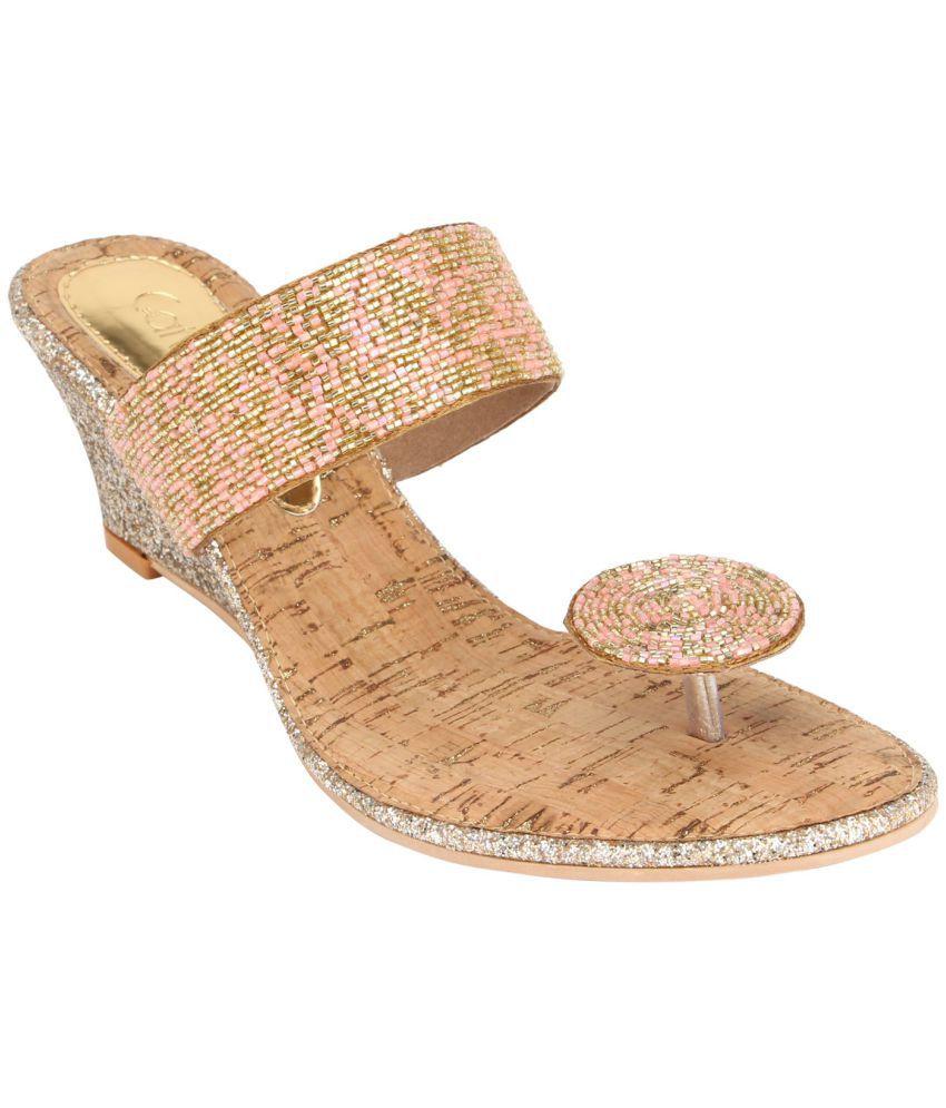 Catwalk Gold Ethnic Footwear