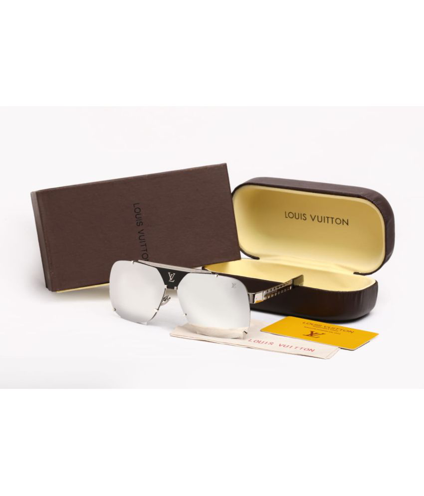 8a739f7008 LOUIS VUITTON SUNGLASSES Silver Square Sunglasses ( BE6666 ) - Buy LOUIS  VUITTON SUNGLASSES Silver Square Sunglasses ( BE6666 ) Online at Low Price  - ...