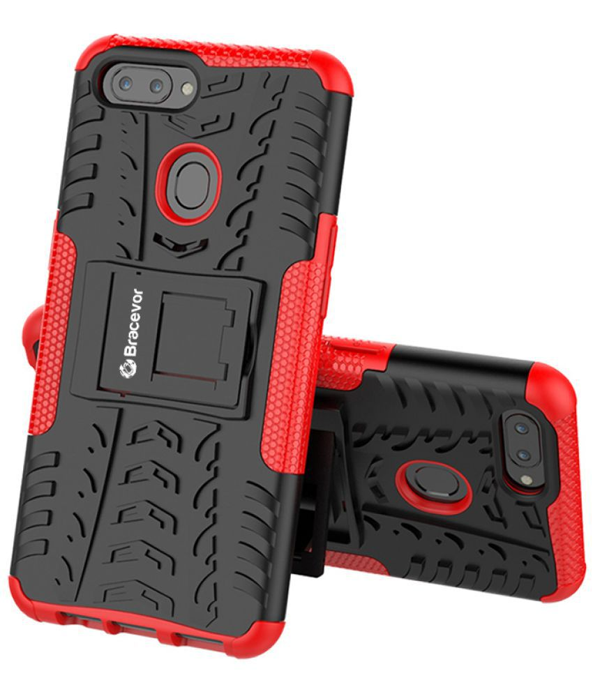 Realme 2 Cases with Stands Bracevor - Red