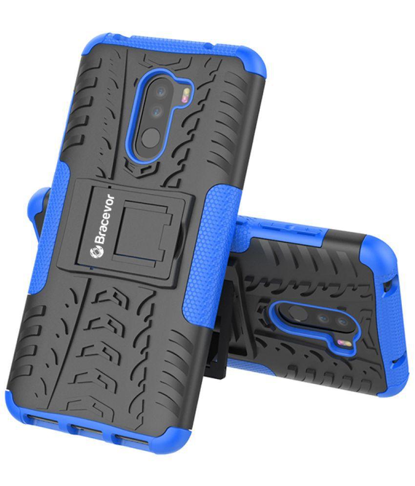 Xiaomi Redmi Poco F1 Cases with Stands Bracevor - Blue