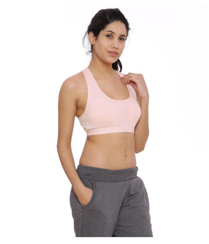 586b31d0b Buy BRAG Cotton Racerback bra - Pink Online at Best Prices in India -  Snapdeal
