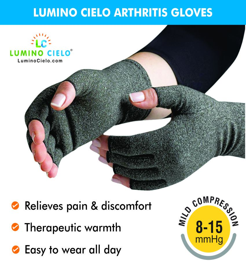 Lumino Cielo Arthritis Gloves Wrist Support Large
