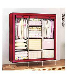 Quick View. Space Saving Collapsible Triple Door Foldable Wardrobe ...