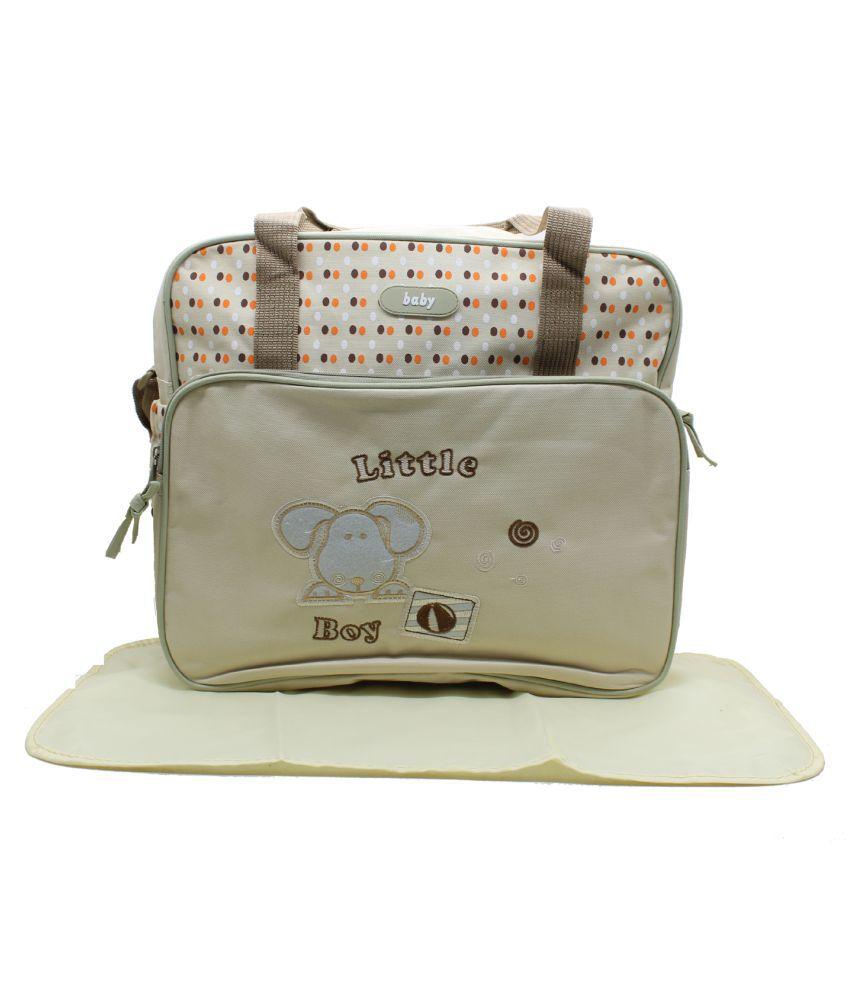 Impro White PU Diaper Bag   38 cm