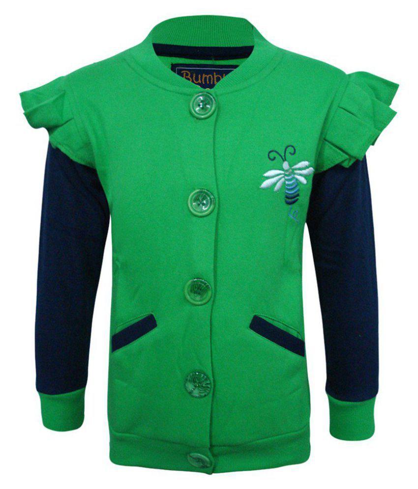 Kothari Green & Blue Sweatshirt For Girls