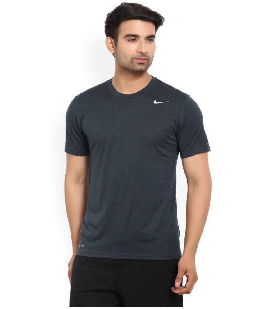 c4eb8d1ab1ab9b Nike Grey Polyester Lycra T-Shirt - Buy Nike Grey Polyester Lycra T-Shirt  Online at Low Price in India - Snapdeal