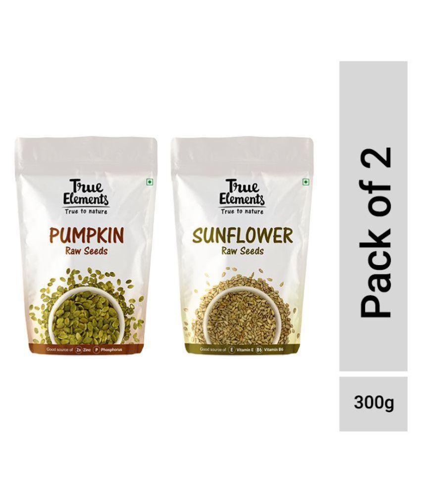 True Elements Raw Pumpkin + Sunflower Seeds 150gm Pack of 2