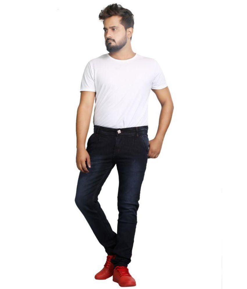 Segvay Dark Blue Straight Jeans