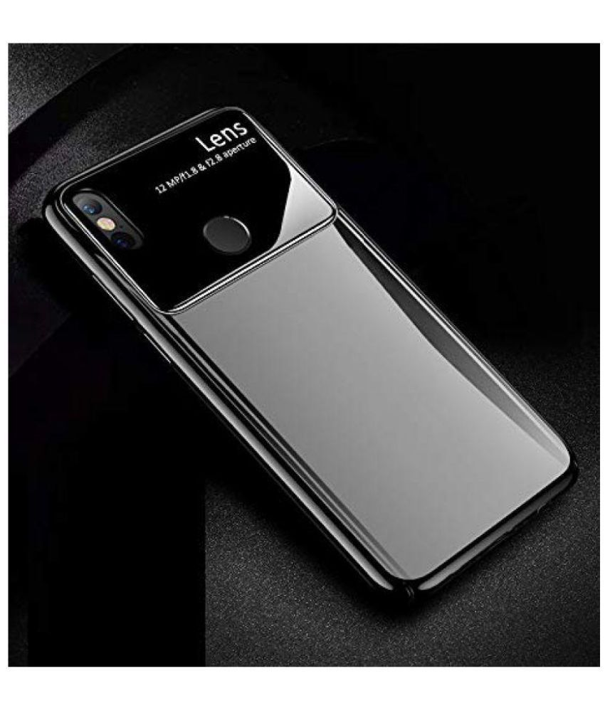 9f1bba394 Xiaomi Redmi Note 5 Pro Glass Cover Karwan - Black - Plain Back Covers  Online at Low Prices