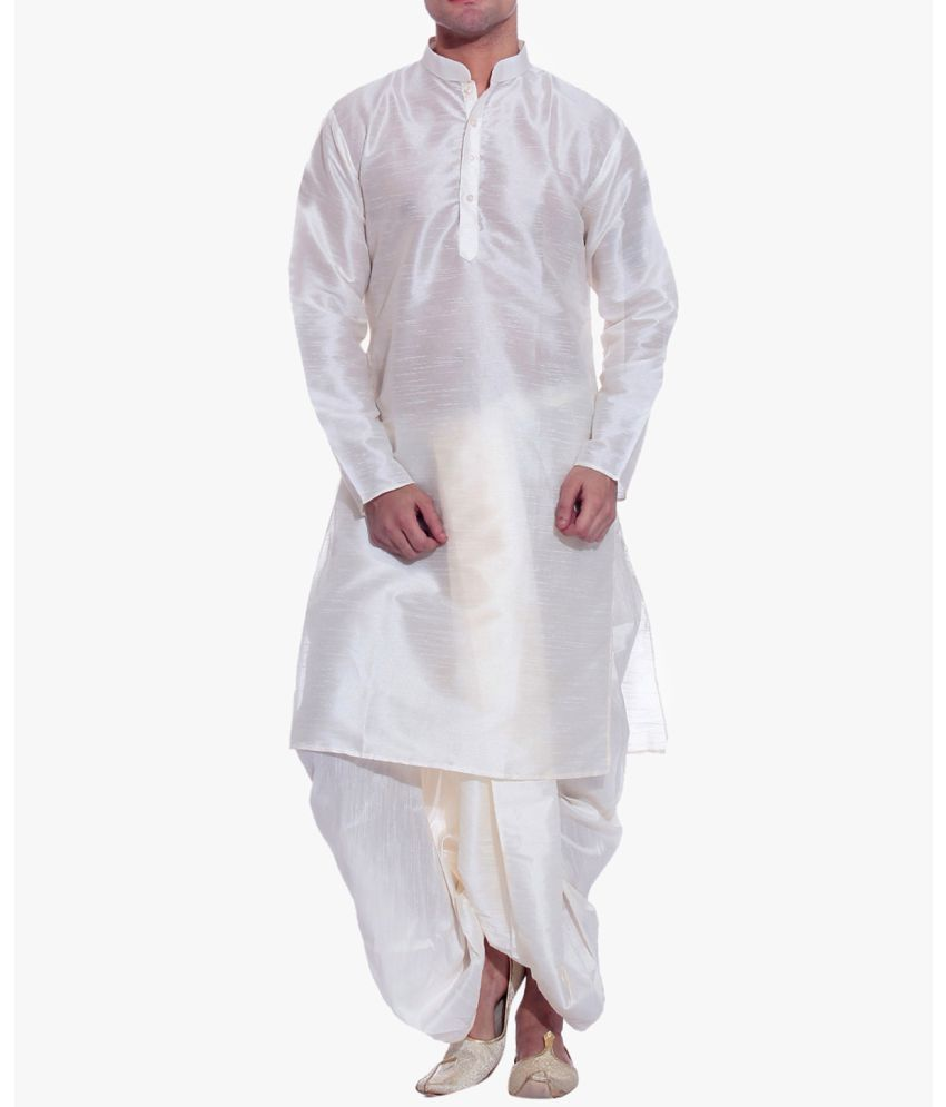 c2e9ae25d inyour White Silk Dhoti Kurta Set - Buy inyour White Silk Dhoti Kurta Set  Online at Low Price in India - Snapdeal