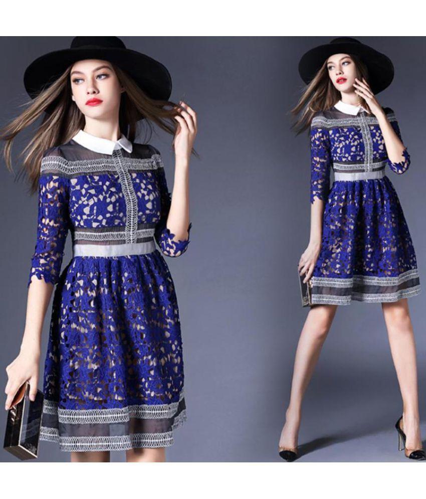 Generic Lace Multi Color Asymmetric dress