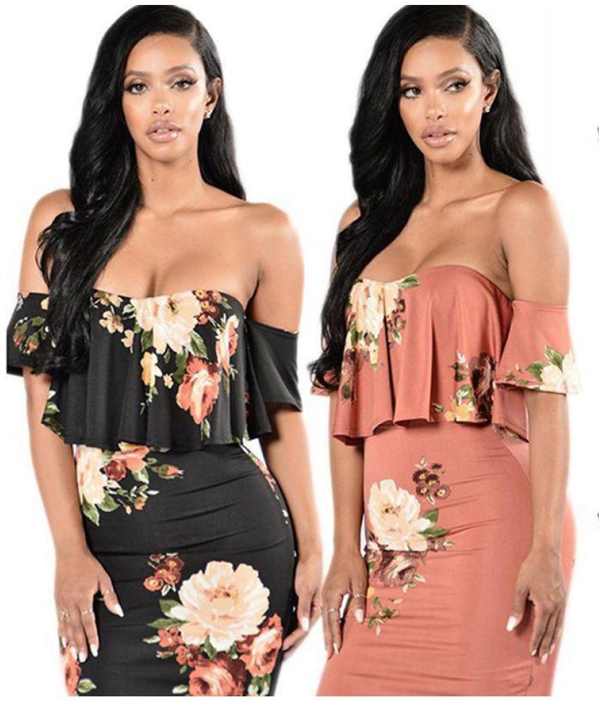 Generic Polyester Black Asymmetric dress