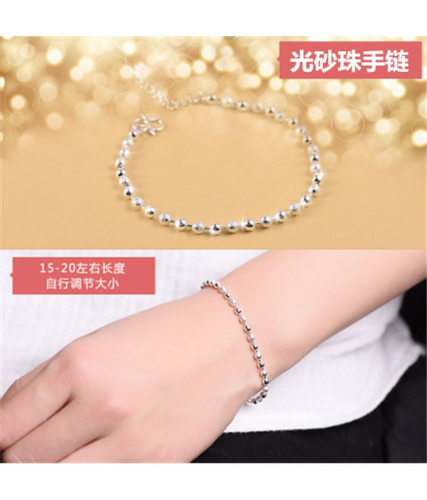 Bracelet Female Student Version Simple Best Friend Bracelet Cheap Pair Of Sterling Silver Transfer Bead Chain