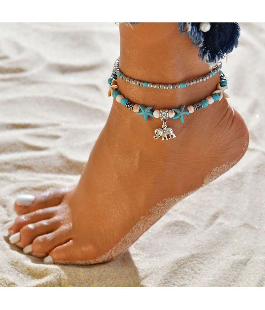 Cross - Border Best Ethnic Beach Elep T Shell Yoga Anklet Bracelet Conch Bracelet Jewelry