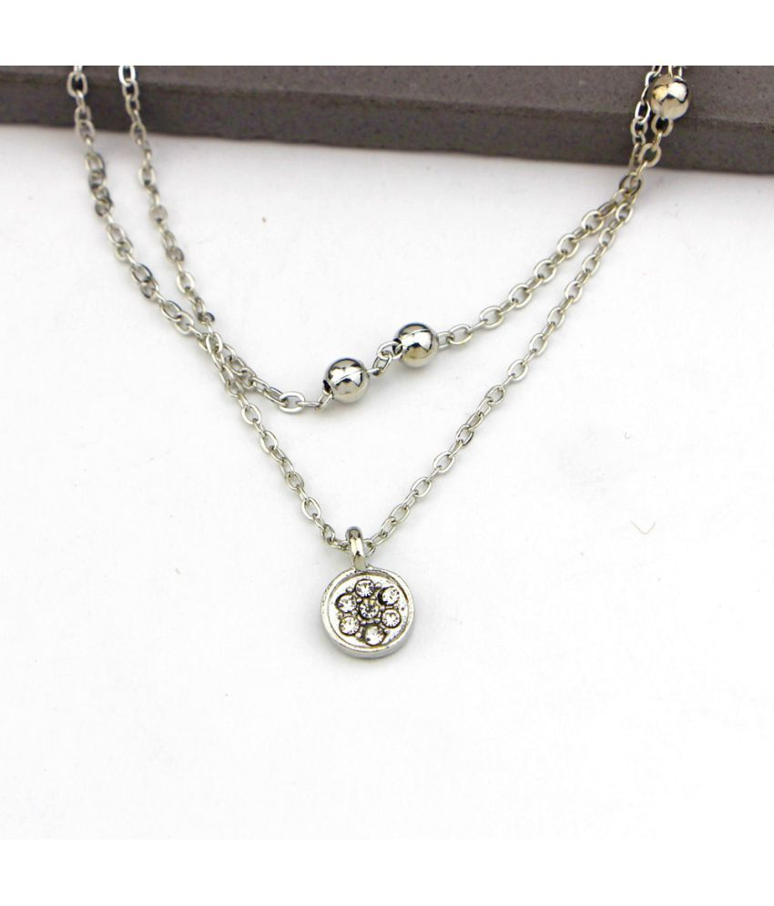 Cross-Boundary Exclusive Supply Of Popular Jewelry Lovely Hearts Love Double Foot Chain Female E0001