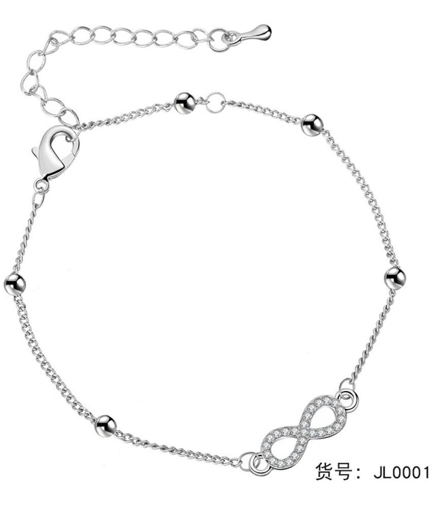 Foot Chain Fashion Simple Bell Multi-Layer Star Water Drill English Letters Women'S Retro Silver Foot Jewelry