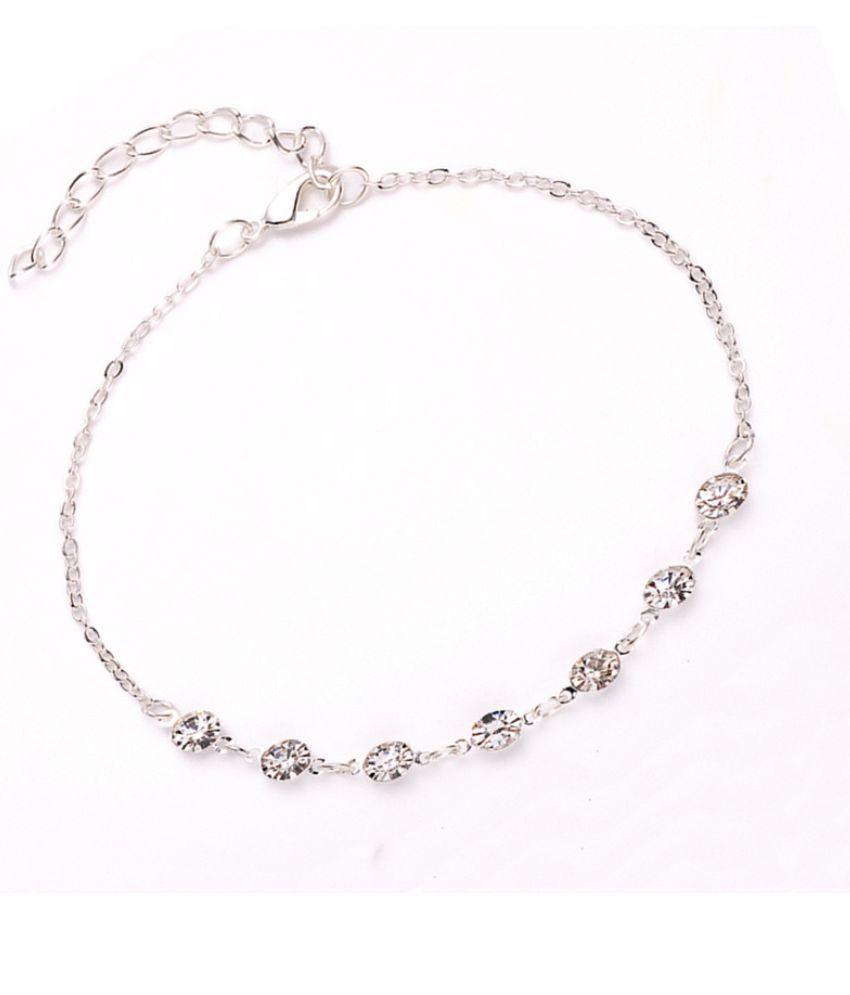 Jewelry Fashion Insert Diamond Simple Crystal Chain 7 Water Drill Bracelet Chain