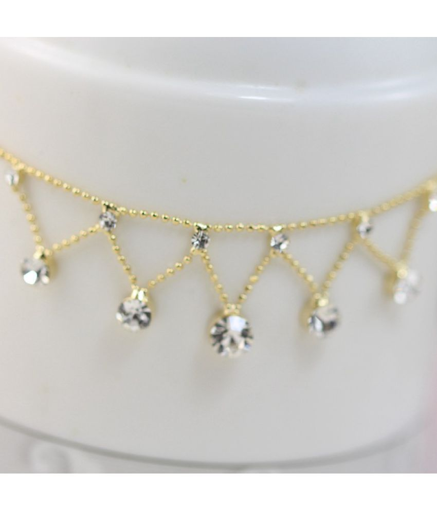 Korea Adorn Article 18 K Gold Plated Jabesh Obi Anklets Gold-Plated Set Auger Fashion Chains