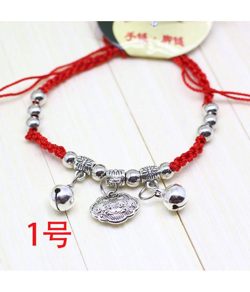 Lifetime Red Rope Bracelet D-Woven Long-Lived Lock Bracelet Chain