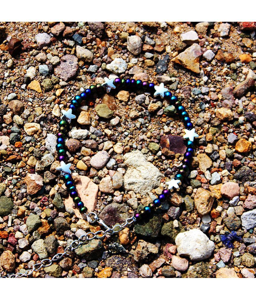 S Natural Stone Crystal Glass Multicolored Rice Beads Ankles Sun Moon Stars Beach Feet Ornaments
