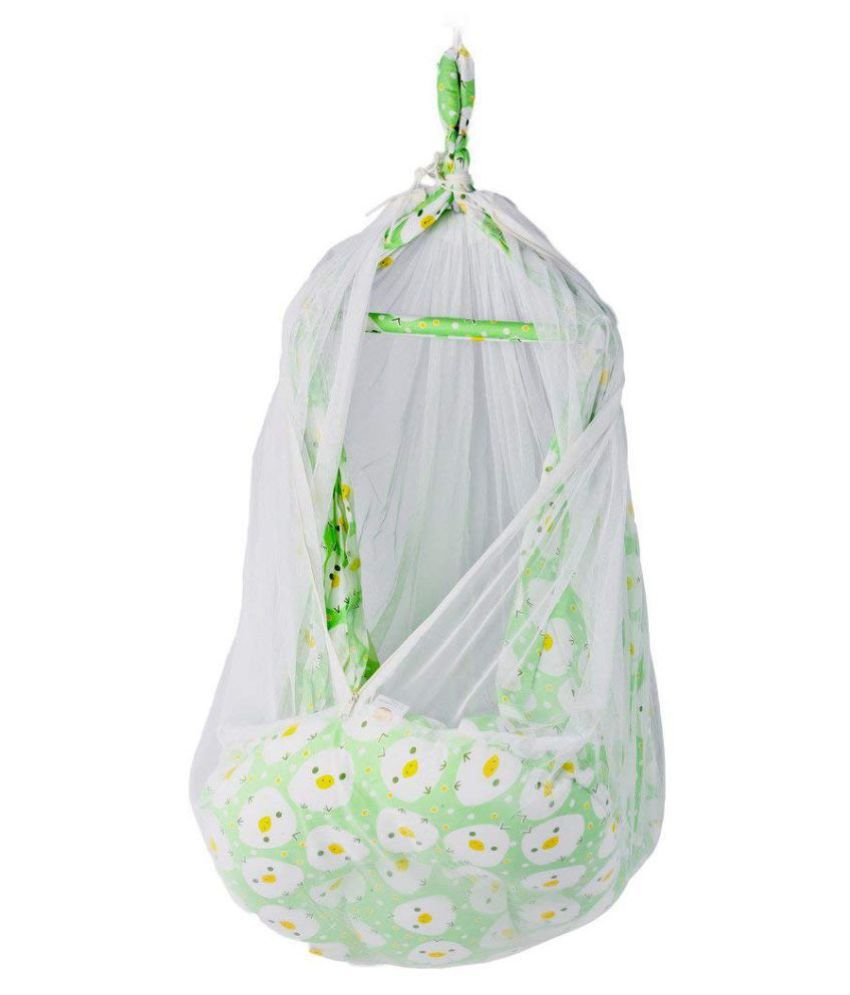 Baybee Baby Ultra Luxuria Hanging Cradle (Green)