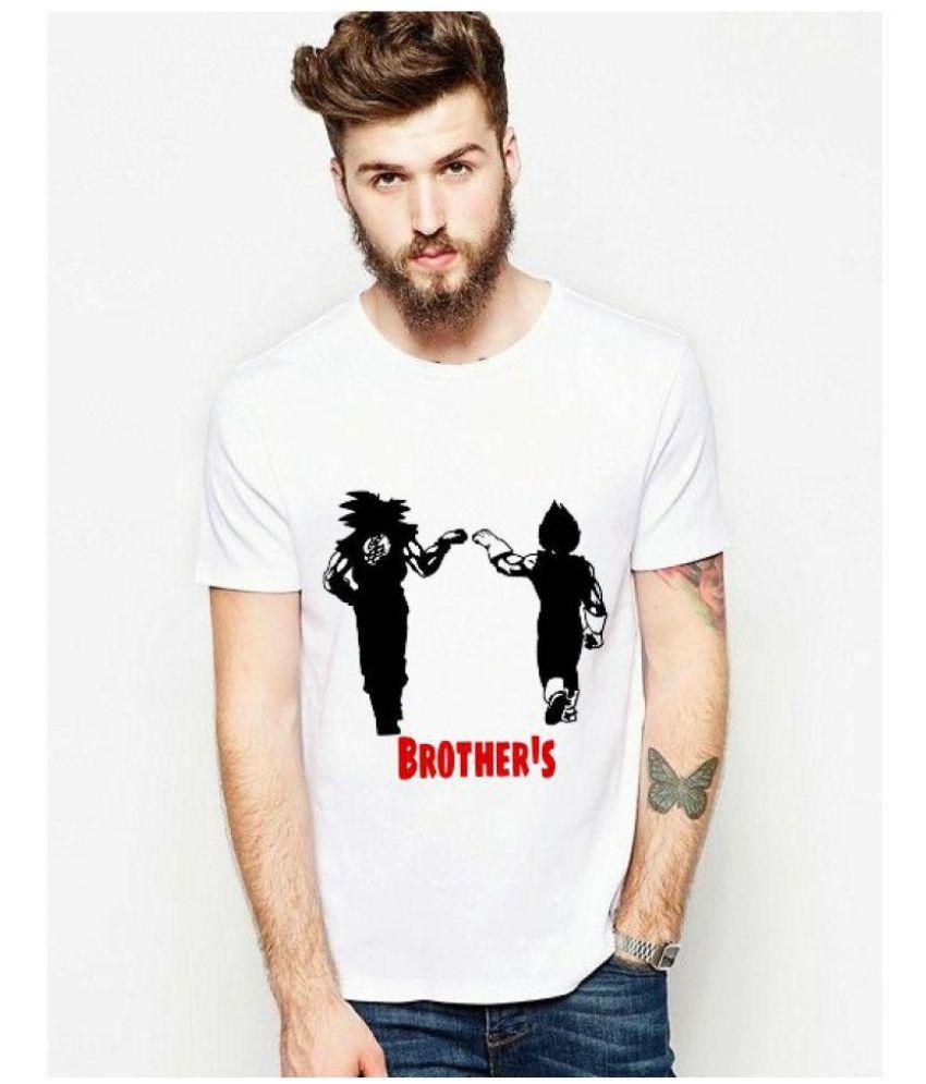 Printbaaz White Half Sleeve T-Shirt Pack of 1