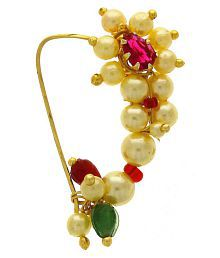 0116e3014d Quick View. Anuradha Art Pink Colour Designer Traditional Maharashtrian  Nath/Nose Ring ...