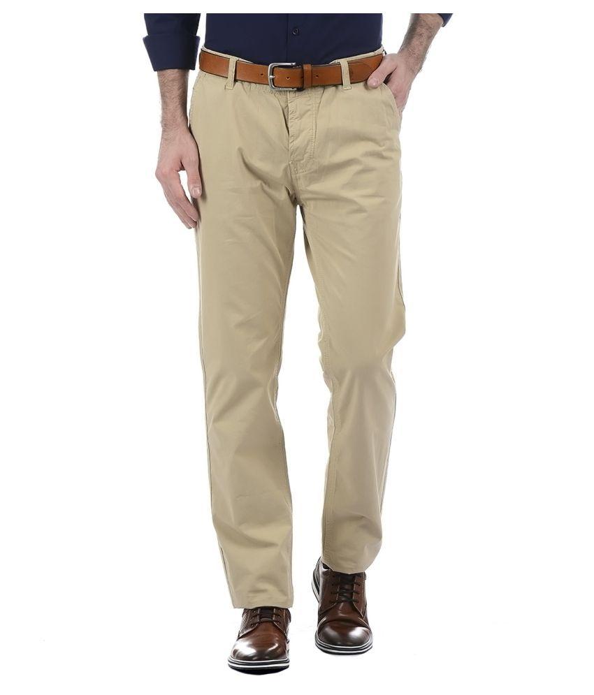 Pepe Jeans Brown Slim -Fit Flat Trousers
