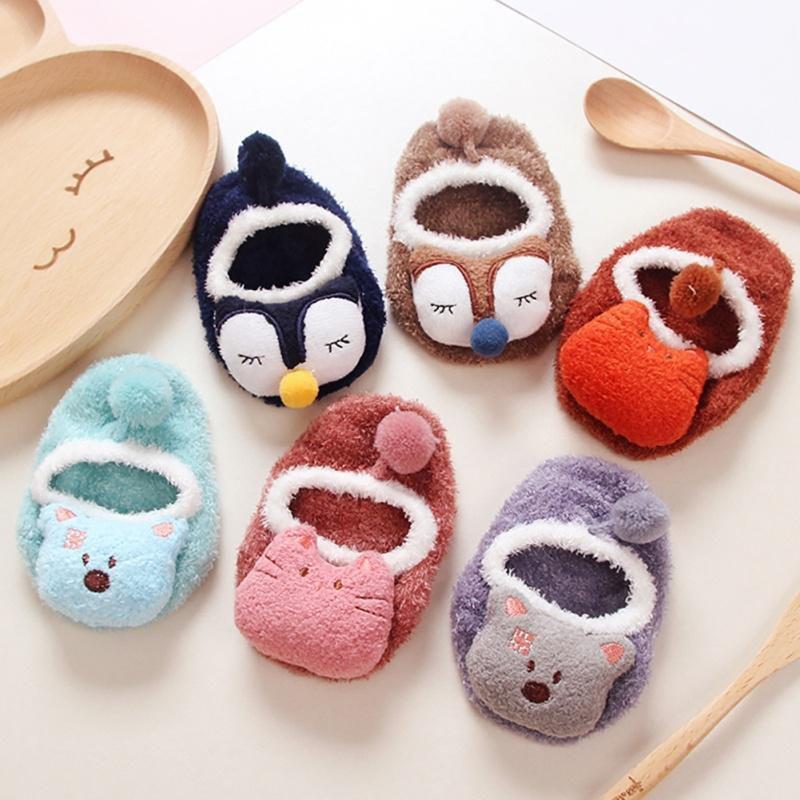 Newborn Baby Cartoon Toddler Baby Girl Boy Anti-Slip Socks Slipper Shoes Boots T