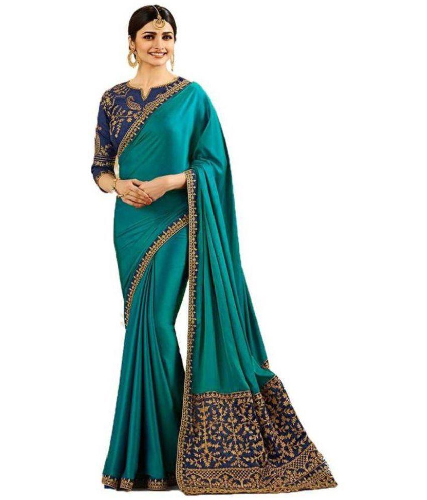 SareeA Turquoise Silk Saree