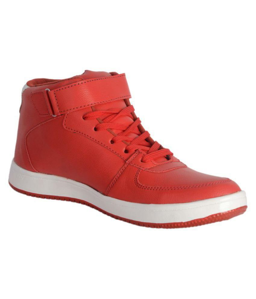 Lee Peeter Red Casual Boot