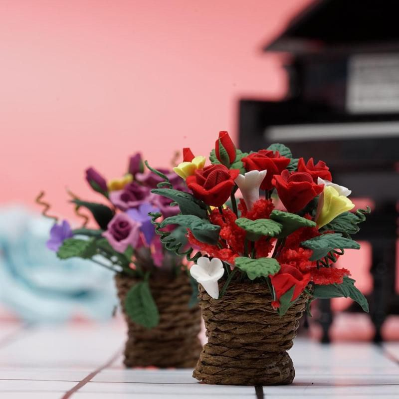 Floral Flowers Miniature Dollhouse Doll House Picture