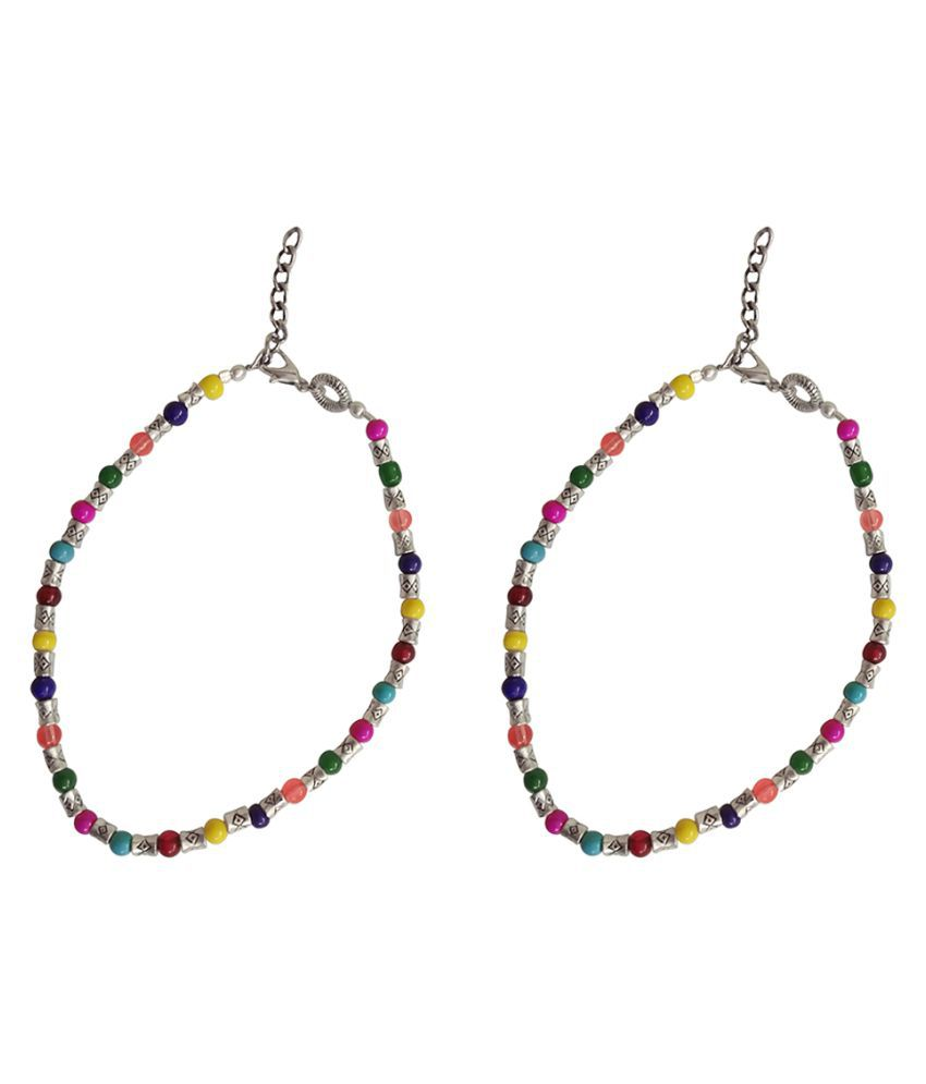Multicolor Beaded Gypsy Ankle Chains