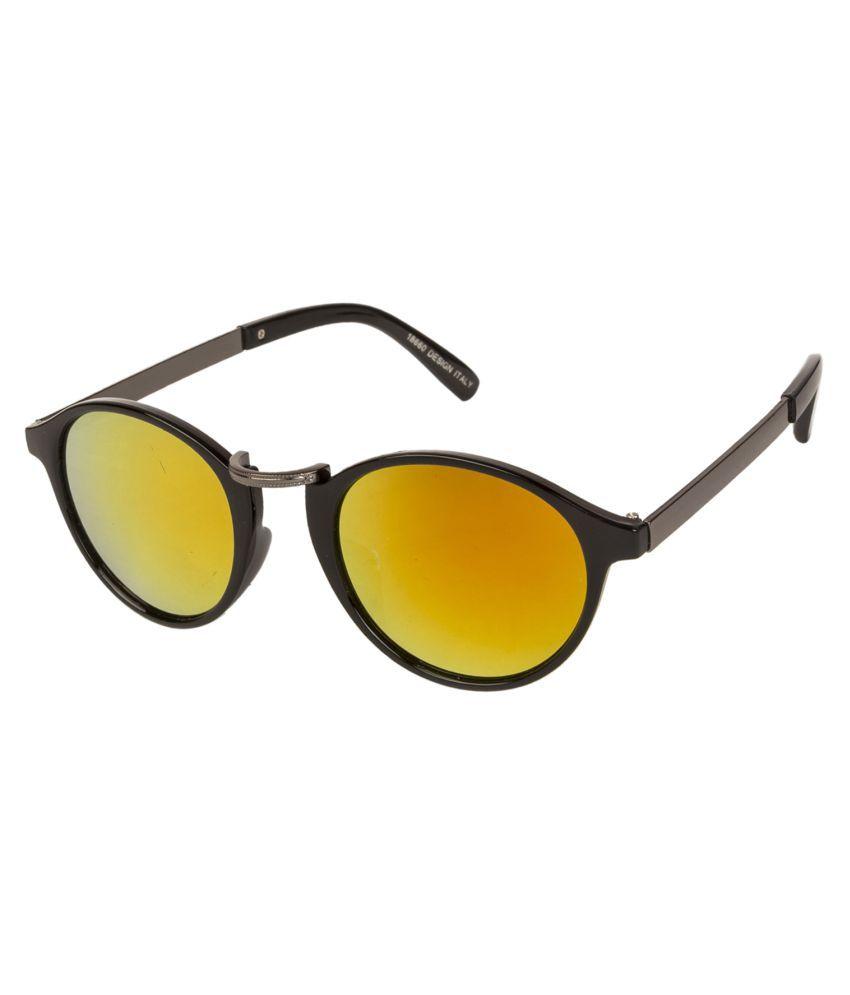 LOF Yellow Oval Sunglasses ( V-6245 )