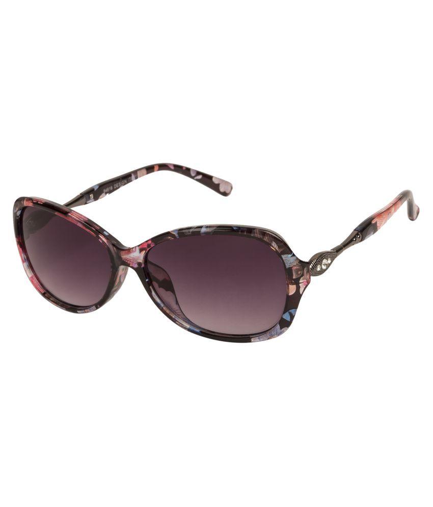LOF Purple Oversized Sunglasses ( V-6129 )