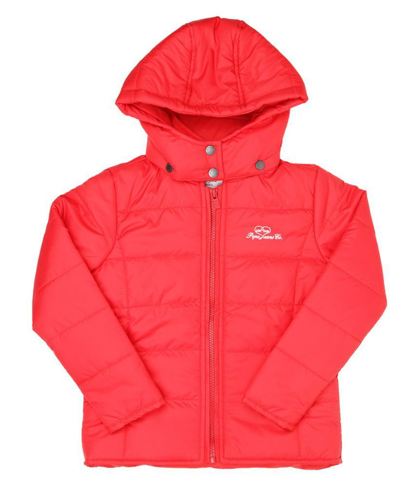 Pepe Jeans Girls Full Sleeve Casual Red Jacket