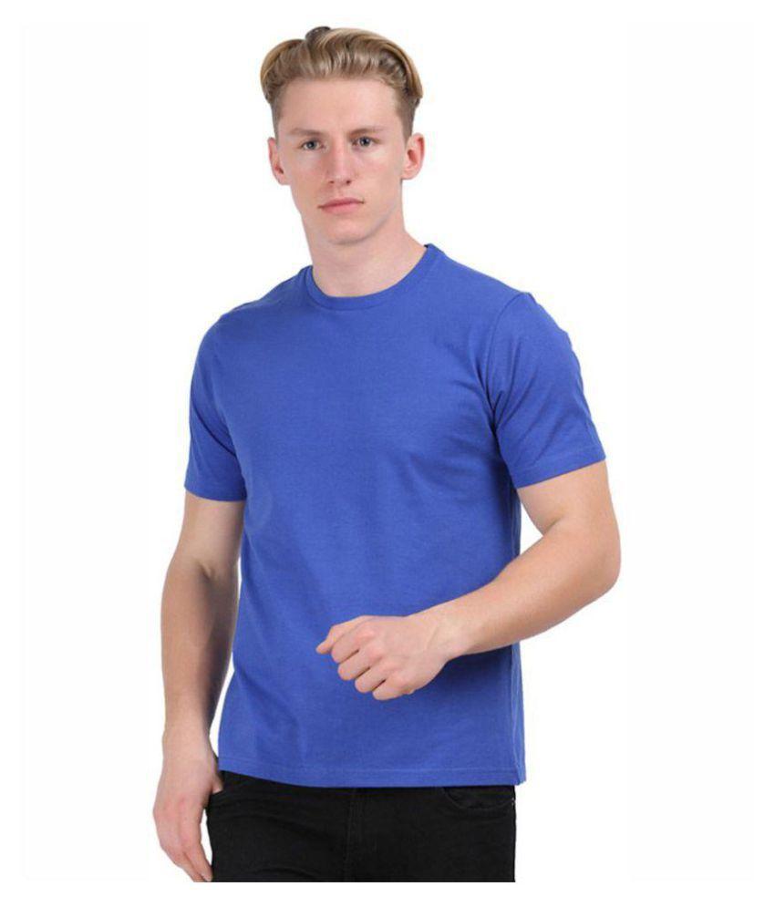 Unbranded Blue Half Sleeve T-Shirt