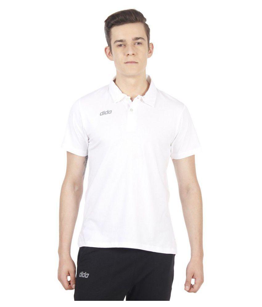 Dida White Cotton Polo T-Shirt