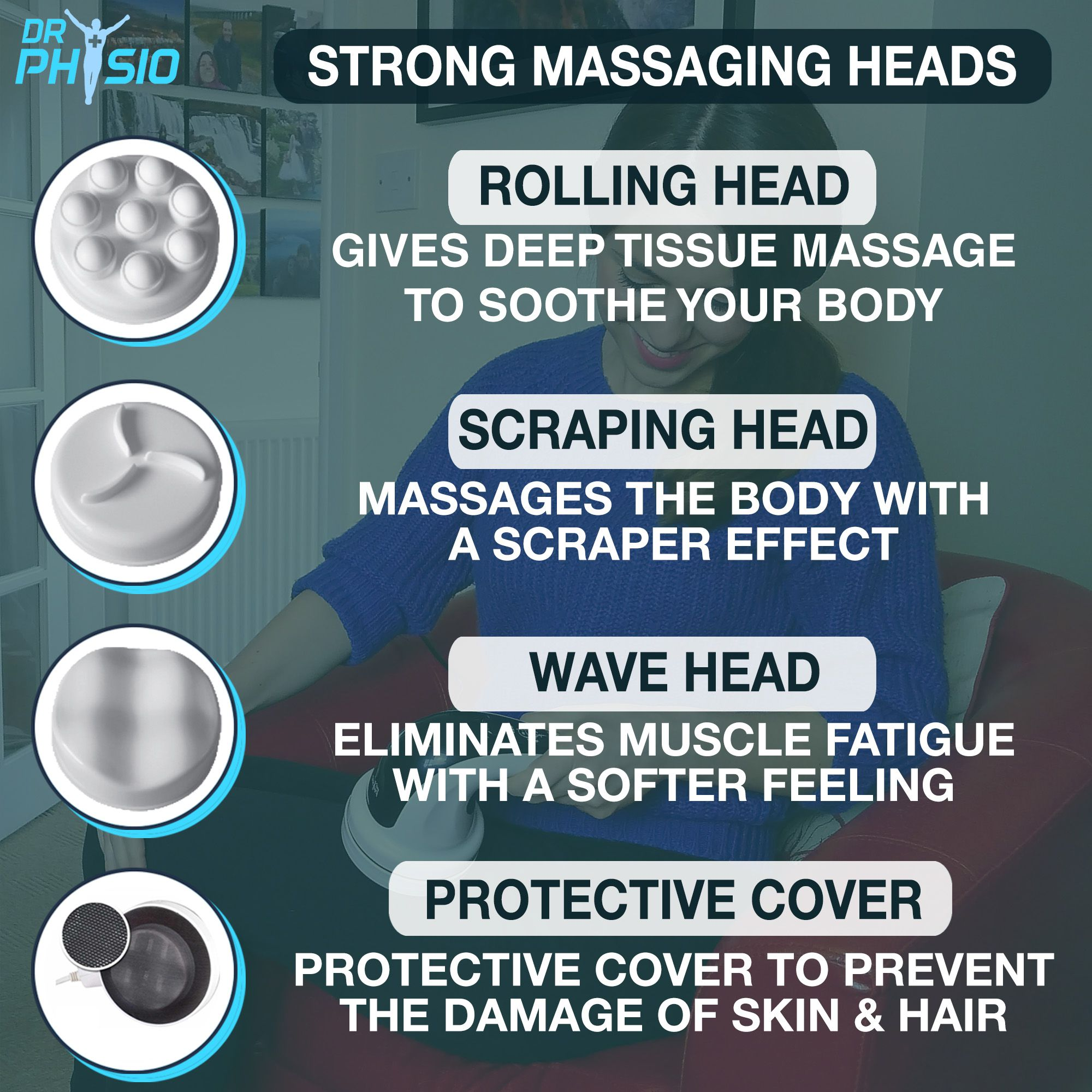 DrPhysio USA POWERFUL FULL BODY MASSAGER MASSAGE MACHINE for PAIN