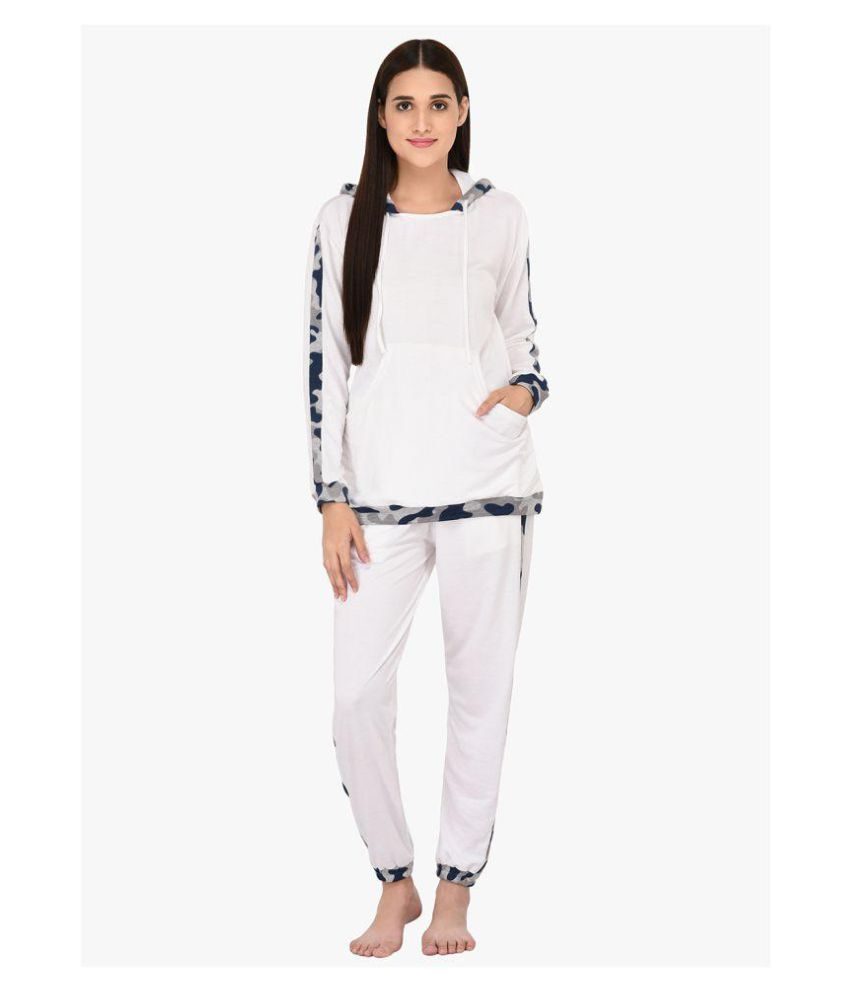 67984cba2a1 Buy YAYA Brush fleece Nightsuit Sets - White Online at Best Prices in India  - Snapdeal