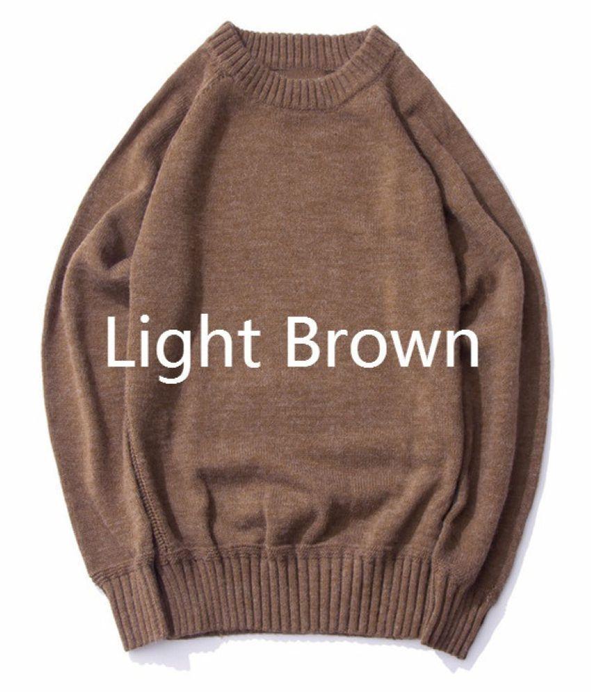 Haorun Brown Full Sleeve T-Shirt Pack of 1