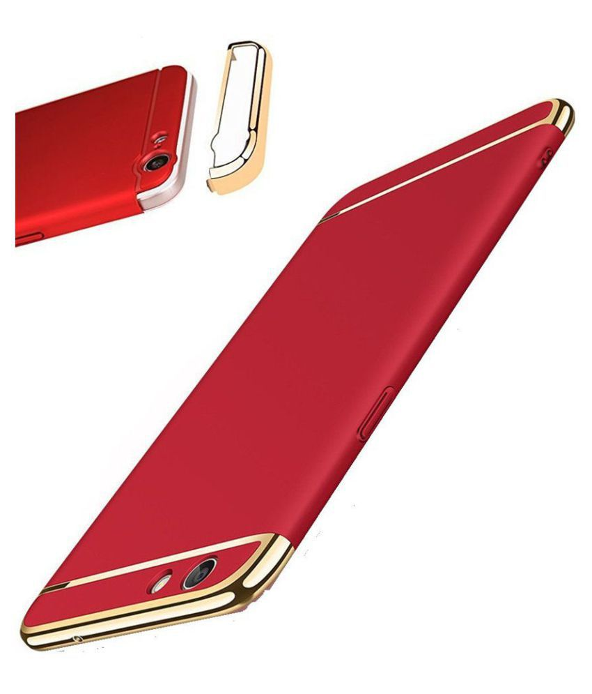 Huawei Honor 8 Lite Plain Cases Kosher Traders - Red 3 In 1 chromium